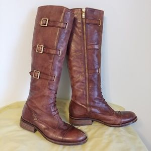Tall distressed leather boots- Vince Camuto